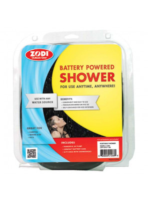 ZODI BATTERY POWERED SHOWER